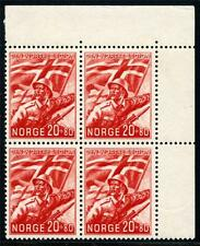 NORWAY SC# B24 MI# 236 MINT NEVER HINGED BLOCK OF FOUR AS SHOWN