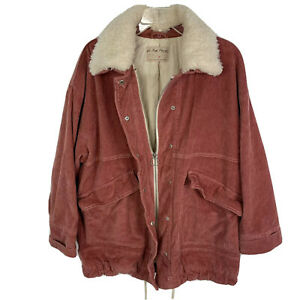 FREE PEOPLE  We The Free Lust For Life Oversized Pink Corduroy Jacket M