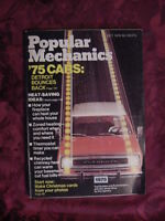 POPULAR MECHANICS Magazine October 1974 Trail Dusters Ram-chargers DETROIT '75