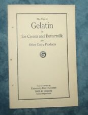 Use of Gelatin In Ice Cram & Buttermilk & Other Dairy Products Swift & Company