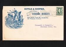 Sipple & Harper  Logo Birds Lard Eggs 1905 Philadelophia Stevens City VA  Z33