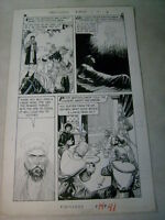 WORLD AROUND US #16 original art CRUSADES HOLY LANCE ANDREW classics illustrated