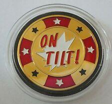 ON TILT poker coin Card Guard Protector Cover