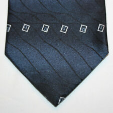 NEW George Silk Neck Tie Dark Blue Navy with Silver and Light Blue Pattern 863