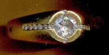 MAN'S DIAMOND & GOLD RING  GIPSY RING BY DOVA IN 750 Size 11 WEIGH  16.7 grams