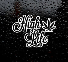 High Life detailed cannabis leaf vinyl sticker decal weed pot hash ganja set thc