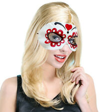 LADIES CARNIVAL MASK DAY OF THE DEAD HALLOWEEN COSTUME LATEX RUBBER FACEMASK NEW