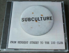 subculture from herbert street to the 100 club 18 track cd street punk oi uk82