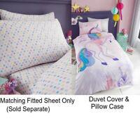 Unicorn Selfie Kids Girls Single Duvet Quilt Cover Children Bedding Set or Sheet