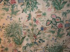 """Thibaut """"Tropical Island"""" tropical floral with birds BTY color yellow multi"""
