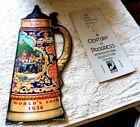 VINTAGE CARDBOARD STEIN BLATZ BEER OLD HEIDELBERG SOUVENIR OF 1934 CHICAGO FAIR
