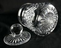 Stunning Vintage Lead Crystal cut large Barrel / Lidded Jar - biscuits tea candy