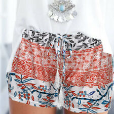 NEW Arrival Womens Ladies High Waist Summer Casual Floral Beach Hot Pants Shorts