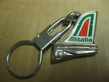 ALITALIA Italy AIRLINE Airplane Figural KEYCHAIN KEYRING KEY RING CHAIN HOLDER