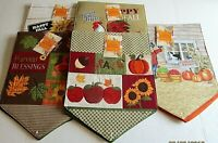 "THANKSGIVING/FALL  TABLE RUNNER ASSORTMENT #2  13"" X 36"" {Your choice}"