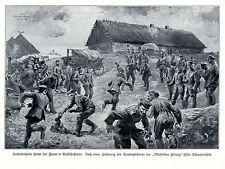 1915 Russisch-Polen * Soldatgenspiele hinter der Front * antique print