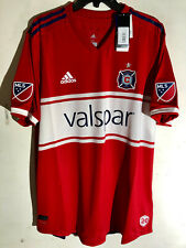 ADIDAS AUTHENTIC MLS TEAM JERSEY CHICAGO FIRE RED SIZE 2XL