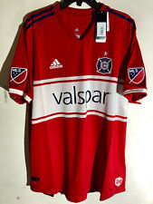 Adidas Authentic MLS CHICAGO FIRE Team Jersey RED sz XL