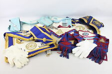 More details for 14 x assorted vintage masonic regalia inc. jewels, aprons, collars, cuffs etc