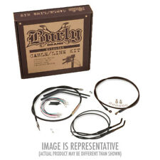 "Extended Black Control Cable Kit For Sportsters with 14"" Tall Apehangers"