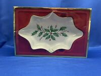 LENOX - Holiday Holly Candy Dish 9 '' - Dimension Collection - Holiday - New