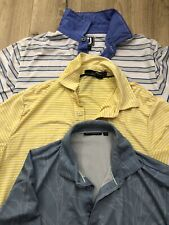 Bundle Lot Performance Golf Polos RLX Ralph Lauren Footjoy Devereax Men's M