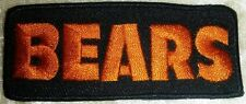 Chicago Bears Name Iron On Embroidered Patches ~Us Seller~Free Ship!