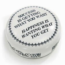 DESK ACCESSORIES - SUCCESS & HAPPINESS PAPERWEIGHT - MENS GIFTS