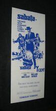 Original 1969 SABATA New Zealand Daybill LEE VAN CLEEF William Berger