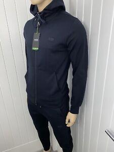 Hugo Boss Tracksuit Hooded Jacket & Pants Mens Blue BNWT Size Small £119
