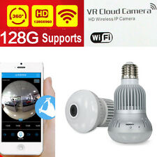 128G save 1 month Wifi IP Bulb CAMERA P2P wifi camera lamp CAMERA Surveillance