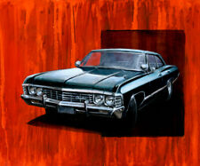 1967 CHEVY IMPALA from SUPERNATURAL Art Print By Billy Tackett