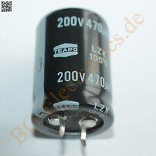 3 x 470µF 470uF 200V 105° Snap In RM10 Elko Kondensator Capa TEAPO E-Cap 3pcs