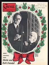 Clarke & Ruth Crandall Genii Magicians Magazine Sept. 1973 - contents in post