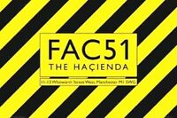 HACIENDA FAMOUS MANCHESTER CLUB - NAME PLATE WHITWORTH STREET POSTER