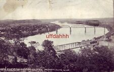 OHIO RIVER FROM FT. BOREMAN, PARKERSBURG, WV 1908