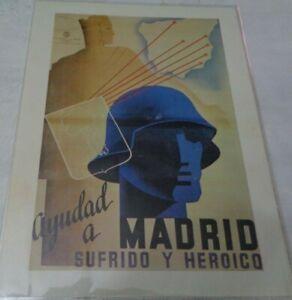 "MANIFESTI DI PROPAGANDA ""AIUTATE MADRID SOFFERENTE ED EROICA"" 1937"
