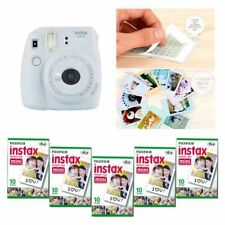 Fujifilm Instax Mini 9 Camera Smokey White 5 Packs Fuji Film 50 Photo 8