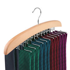 Tie Hanger Rack Organizer Rotating Belt Holder Closet Hook Ties Storage Necktie