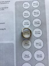 MONOGRAMED RING LETTER H SCALLOPED EDGES SIZE 6 ADJUSTABLE