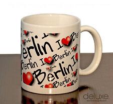 Tasse I love Berlin weiss NEU Kaffeebecher m. Herzen Teetasse Souvenir Becher