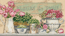 Cross Stitch Kit ~ Dimensions French Flowers of Paris Floral Shelf #35204