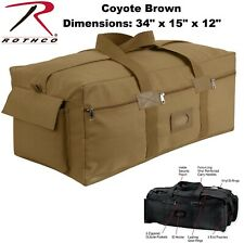 Coyote Brown Heavy Duty Cotton Canvas Israeli Mossad IDF Duffle Bag Carry  8137 7b3ace8f83