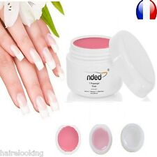 LOT GEL UV MONOPHASE 3 EN 1 NDED 5 ML BASE CONSTRUCTION FINITION ONGLES 24/72 H