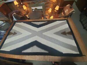 """Vintage Native American Navajo Blanket/Rug 60""""×32"""""""
