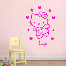 Hello Kitty Personalised Wall Art Quote Vinyl Transfer Decal Sticker Mural A4