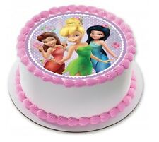 Tinkerbell Edible Kids Birthday Party Cake Decoration Topper Round Image