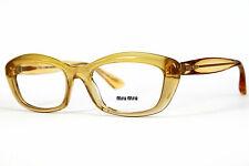 Miu Miu Damen Brillenfassung MU02MV PDA-101 52mm gelb cat eye Vollrand 436 10