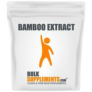 BulkSupplements.com Bamboo Extract Powder - Silica Supplements - Hair and Nails