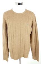 Polo Ralph Lauren Strickpullover Herren L Braun 100% Lammwolle Pullover Knit